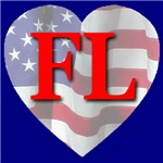Love FL Flag Heart