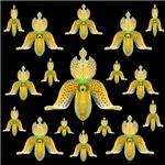 A Flight Of Golden Orchids