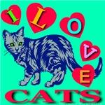I Love Cats Exotic Jade
