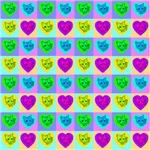 64 Cat Hearts Quilt #1