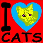 I Love Cats Hot Red