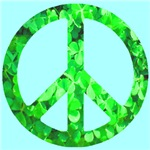 Shamrock Peace Symbol Skyblue