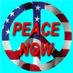 Peace Now Symbol American Flag