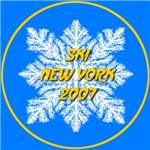 * On Sale * Ski New York 2007 Snowflake