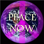 Planet Earth Peace Now Symbol
