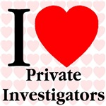 I Love Private Investigators Heart Mosaic