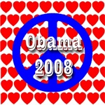 Obama 2008 Patriotic RWB Peace & Love Symbol