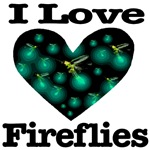 I Love Fireflies Midnight Heart
