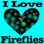 I Love Fireflies Midnight Heart Skyblue