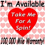 I'm Available Pick Me Up 100,000 Mile Warrant