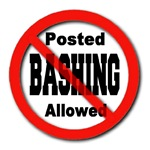Posted No Bashing Allowed