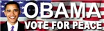 OBAMA Vote For Peace Bumper