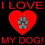 I Love My Dog! Classic Paw Heart