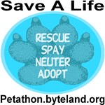Petathon Save A Life Blue Topaz Medallion Paw