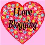 I Love Blogging StarBurst Heart