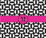 Monogram black white octagon pattern