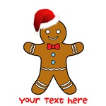 Funny gingerbread man santa