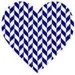 Herringbone pattern blue white