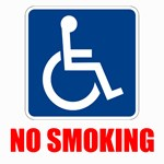 No Smoking Handicapped Disabled