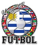 Uruguay Flag World Cup Futbol with World Flags
