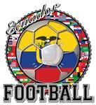 Ecuador Flag World Cup Football Ball With World Fl