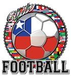 Chile Flag World Cup Futbol Soccer Football Ball w