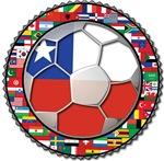 Chile Flag World Cup Soccer Football Futbol  Ball