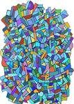 Arty Blue Mosaic