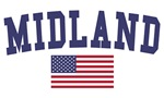 Midland Mi US Flag