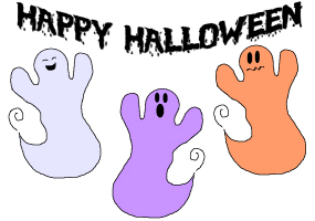 HAPPY HALLOWEEN GHOSTS
