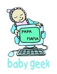 Baby Geek On Computer