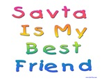 Savta is My Best Friend Hebrew Kids
