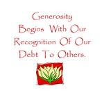 Generosity Begins Gifts