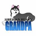 Black Siberian Husky Grandpa