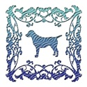 Labrador Retriever Blue Ornamental Lattice
