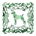 Weimaraner Green Ornamental Lattice
