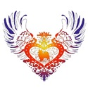 Papillon Rainbow Winged Heart
