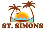 St. Simons Island - Palm Trees Design.