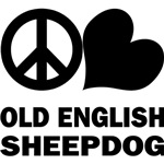 Peace Love Old English Sheepdog