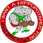 Boxing Day Hippopotamus T-Shirt