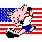 International Soccer Pig T-Shirts