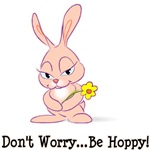 Don't Worry Be Hoppy Rabbit T-Shirts