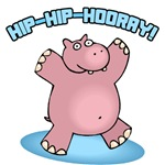 Hip-Hip-Hooray Hippo T-Shirt
