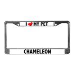 Chameleon License Plate Frames