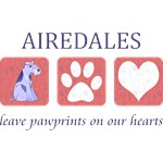 Airedale Terrier Pawprints