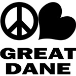 Peace Love Great Dane