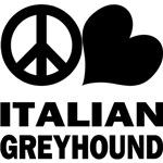 Peace Love Italian Greyhound