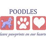 Standard Poodle Paw Prints T-Shirt