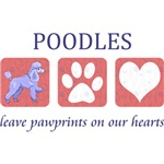 Toy Poodle Paw Prints T-Shirt
