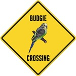 Budgerigar Crossing Sign